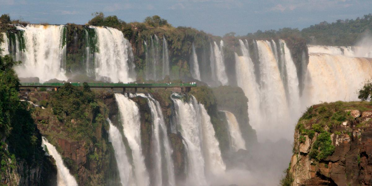 Panoramic view of the Iguazu Falls