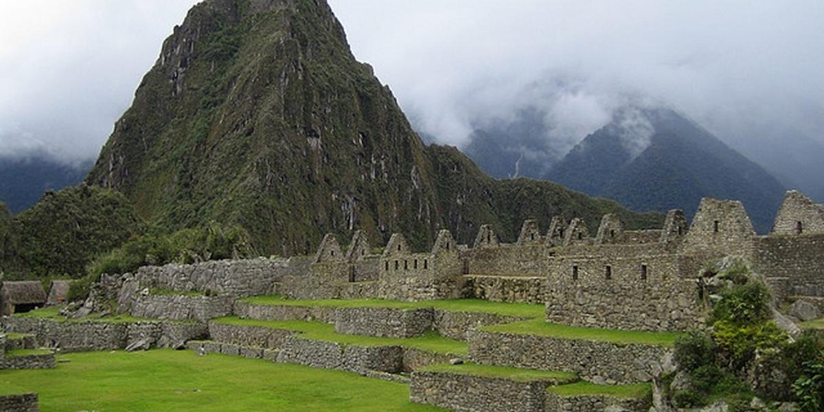 The Main Plaza of the Machu Picchu Ruins
