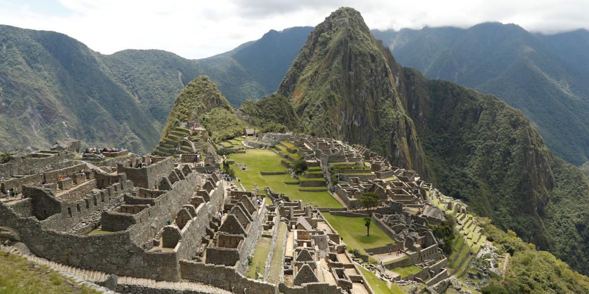 Typical view of the Machu Picchu Ruins