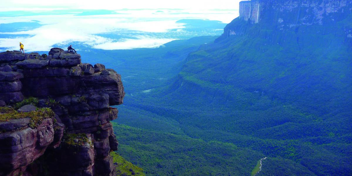 Enjoying the view to the Angel Falls while trekking the Roraima