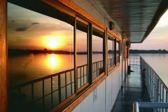 The Amazon Cruise Manatee during a sunset