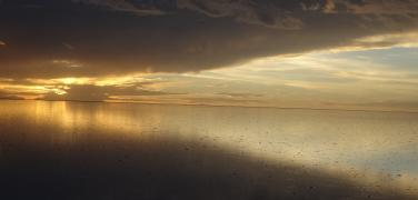 Bolivia Uyuni Salt Flat Sunset