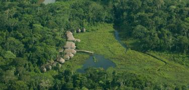 Ecuador Amazon Kapawi Lodge aerial view